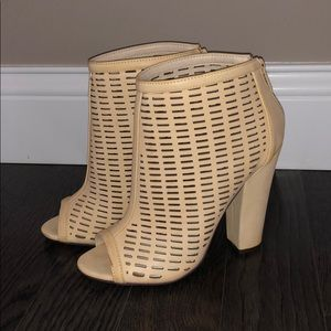 NWT Nude Ankle Booties - Laser Cut Boots